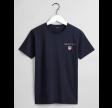 Medium Shield SS T-shirt, evening blue