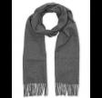 Solid Wool Scarf, Charcoal Melange