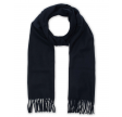 Solid Wool Scarf, Navy