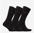 3-Pack Soft Cotton Socks, Black