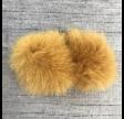 Pelsmanchetter i ræv, gul