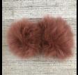 Pelsmanchetter i ræv, rød-brun