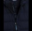 Lock-up stripe puffer jacket, blue