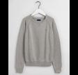 Casual Cotton Crew, light grey melange