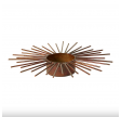 Lysestage fyrfad bronzefarvet metal 16cm