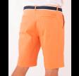 Belted bermuda shorts - soft orange