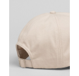 High cotton twill cap - putty