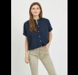 Visiliana s/s shirt - navy blazer