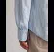 Pique stripe slim - capri blue