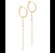 Creoler m. kæder og perler - guld