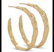Runde øreringe - guld