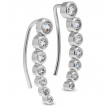 Øreringe m. zirkoner - sølv