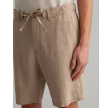 Relaxed linen shorts - dry sand