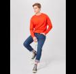 Neck sweatshirt - burnt orange