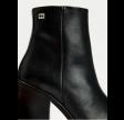 TH flag stud high heel boot - black
