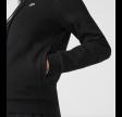 Women's Cotton Blend Zip Hoodie - Black