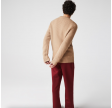 Crew Neck Wool And Cashmere Cable Knit Sweater - Beige