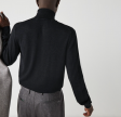 Turtleneck Merino Wool Sweater - Grey
