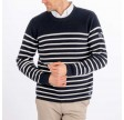 Sailor knitted crew - navy/white