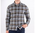 Sebago - Twisted Yam Checked Shirt Navy Green